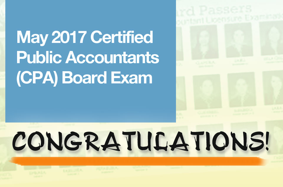 May 2017 CPA Board Passers